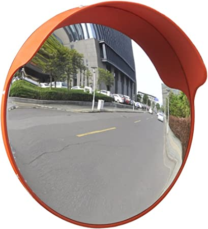 lahomie Road Security Convex Mirror Rectangle Blind Spot Mirror Convex Traffic Mirror Rectangle Traffic Safety Mirror Convex Security Mirror with Reflector