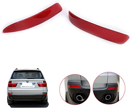 Genuine BMW X5 X6 Reflector Bumper Cover Red Rear Drive Right NEW 63217158950