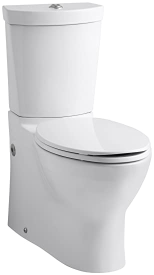 Kohler K-3654-0 Persuade Two-Piece Elongated Toilet with Dual ...