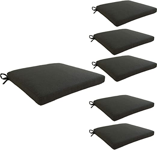 Edenjardi Pack 6 Cojines para sillas de jardín estándar Olefin Color Gris   Tamaño 44x44x5 cm   No Pierde Color   Desenfundable   Portes Gratis: Amazon.es: Jardín