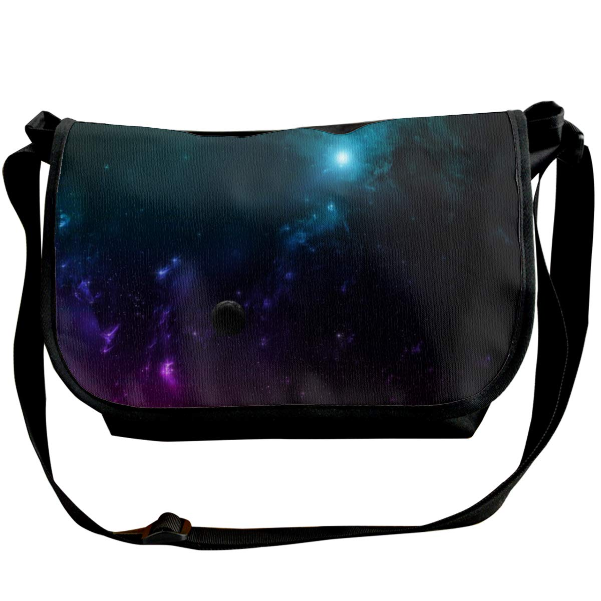 Taslilye Galaxy Universe Space Planets Multi Colored Personalized Wide Crossbody Shoulder Bag For Men And Women For Daily Work Or Travel