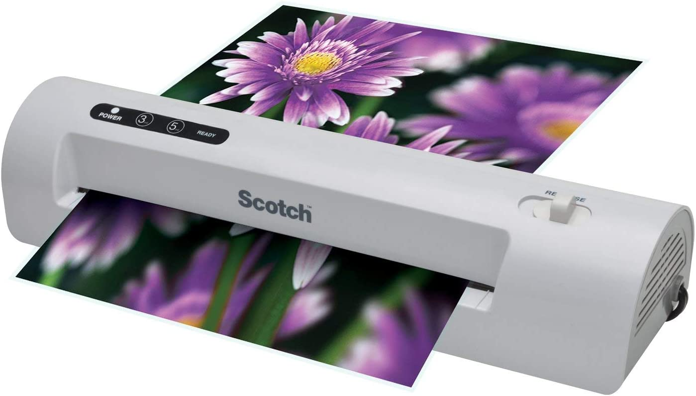 Renewed Scotch Thermal Laminator 2 Roller System 15.5 x 6.75 x 3.75- Inches Silver//Black TL901