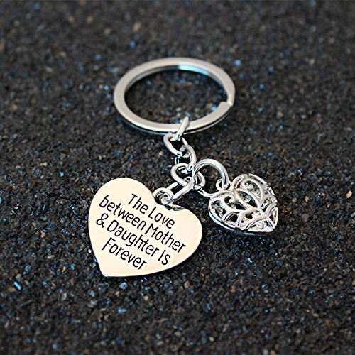 Mother's Day Gift Love Between Mother Daughter Is Forever Double Heart Key Chain Ring for Family Women Photo #6