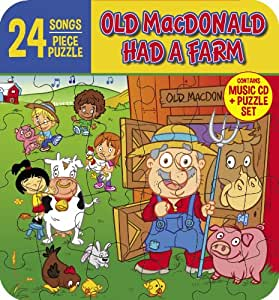 Old Macdonald Had a Farm (Music CD and 24 Piece Puzzle In Collectors Tin): 24 kids songs, Feat tracks like Workin on the Railroad, Saints Go Marchin' In, Do Your Ears Hang Low and more