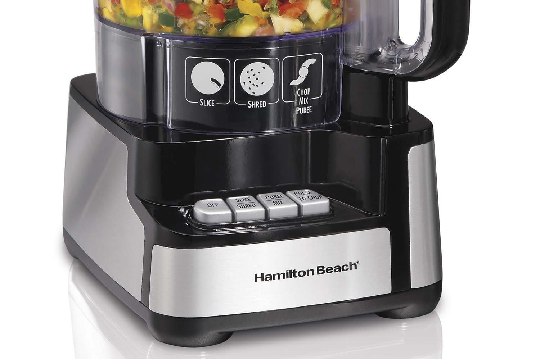 New Hamilton Beach 70725 12-Cup Stack and Snap Food Processor Powerful 450 Watt