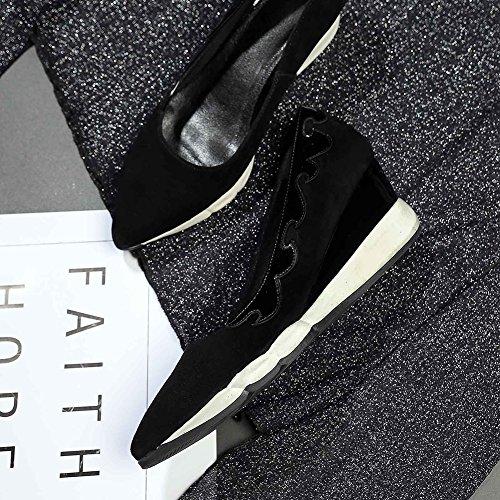 Mat Q1613 À Creepers KJJDE Motif 34 Femme Black Plateformes Semelles Chaussures WSXY Baskets Respirant Double z5fzXq0w