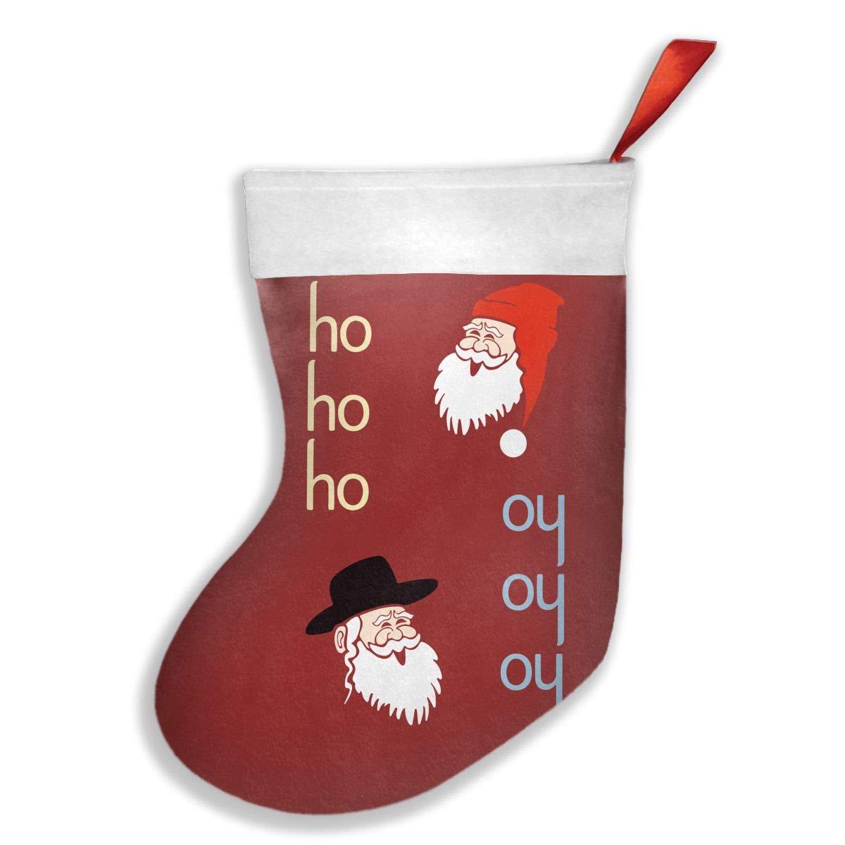 Hanukkah Christmas Stocking.Loioi67 Hanukkah Motif Blue Christmas Stocking Craft
