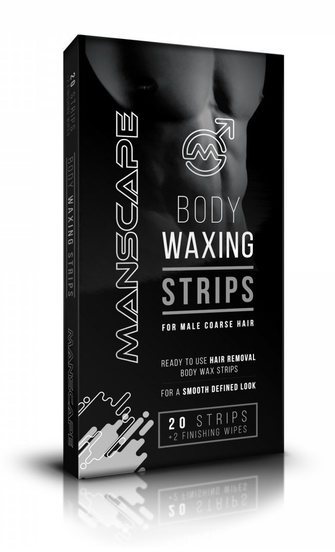 Manscape Body Waxing Strips for Men - 20 Strips with 2 Finishing Wipes 5060235460777