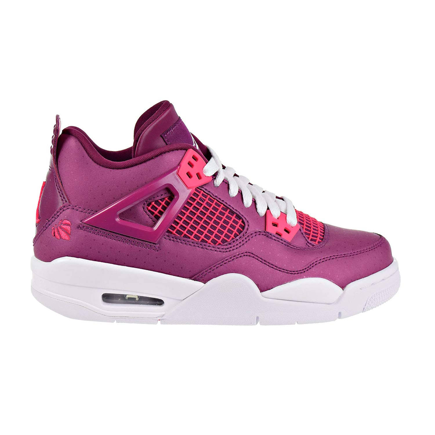 Air Jordan 4 Retro Big Kids Shoes True Berry/Rush Pink/White 487724-661