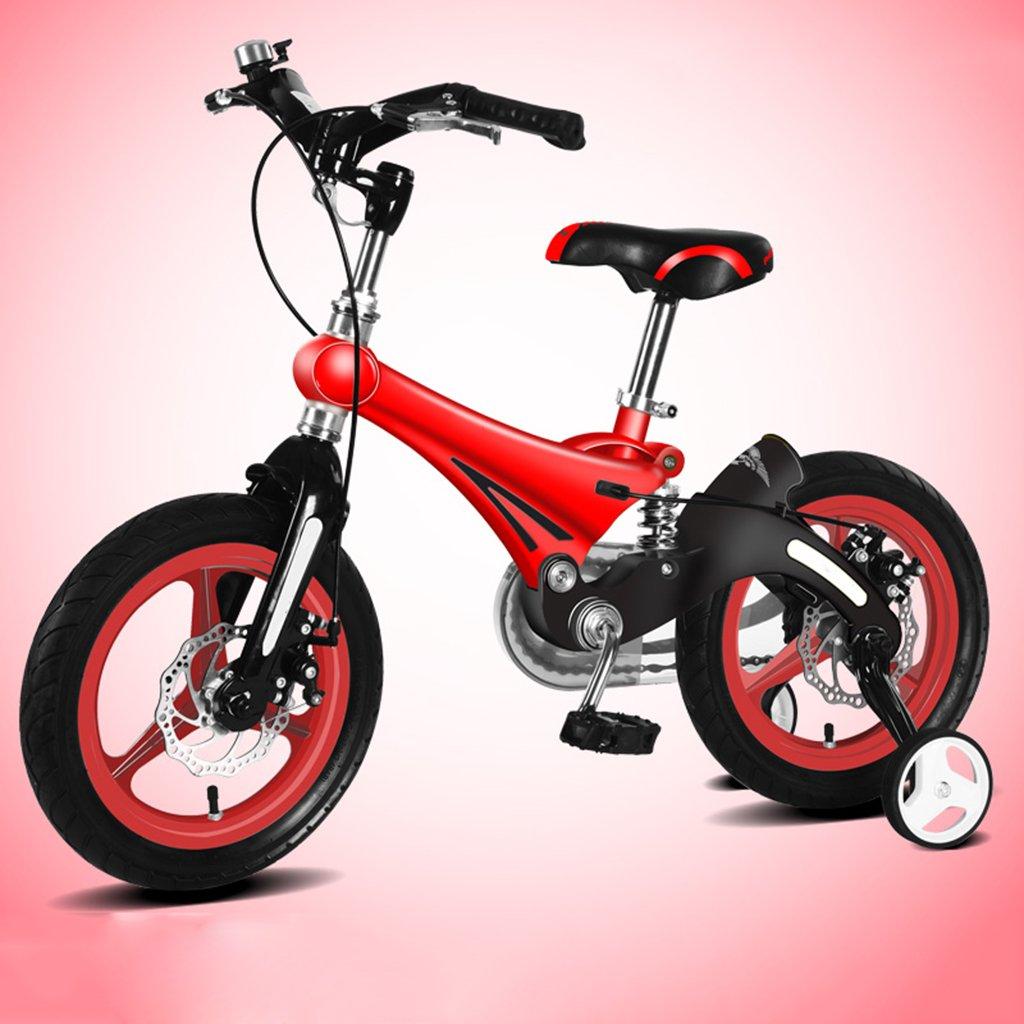 子供用自転車、A&Dan マグネシウム合金子供用自転車子供用三輪車2-8歳の子供に適しています B07CR5YNTK 14〃|Red Red 14〃