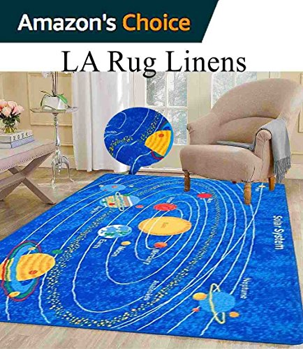 8x10 Kids Boys Children Toddler Playroom Rug Nursery Room Rug Bedroom Rug Fun Colorful ( Solar System ) by LA Rug Linens
