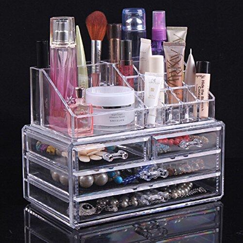 Amazon com  Topsalon Acrylic Cosmetic Organizer 4 Drawers Drawer Makeup  Case Storage Holder Box  Beauty. Amazon com  Topsalon Acrylic Cosmetic Organizer 4 Drawers Drawer