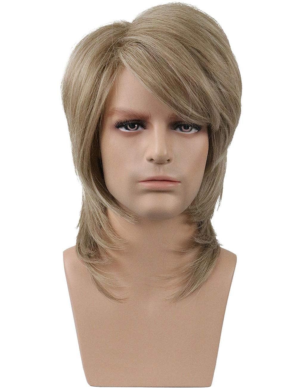 Mullet Wig Blonde 80/'s Joe Dirt Fancy Dress Up Halloween Adult Costume Accessory