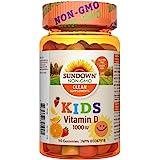 Vitamin D Gummies by Sundown Kids, 1000 iu of Vitamin D, Supports Bone & Teeth Health, 90 Gummies