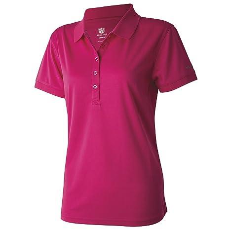 Wilson Staff Ladies Authentic de Polo Camiseta Magenta Color Lila ...