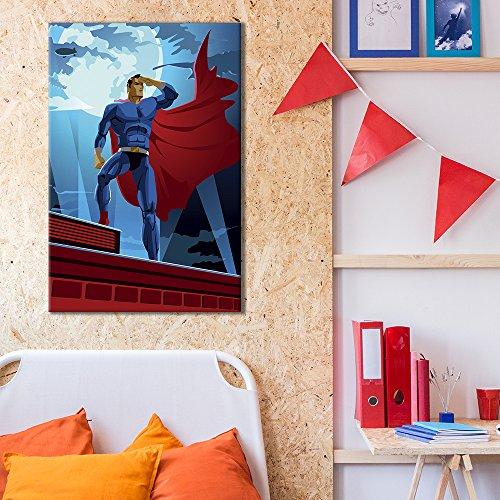 Superhero Heroic Comic Illustration Pop Art