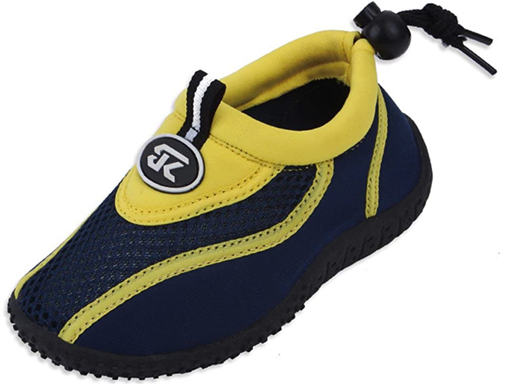 Toddler//Little Kid//Big Kid Cambridge Select Kids Quick Dry Closed Toe Slip-On Mesh Non-Slip Drawstring Water Shoe