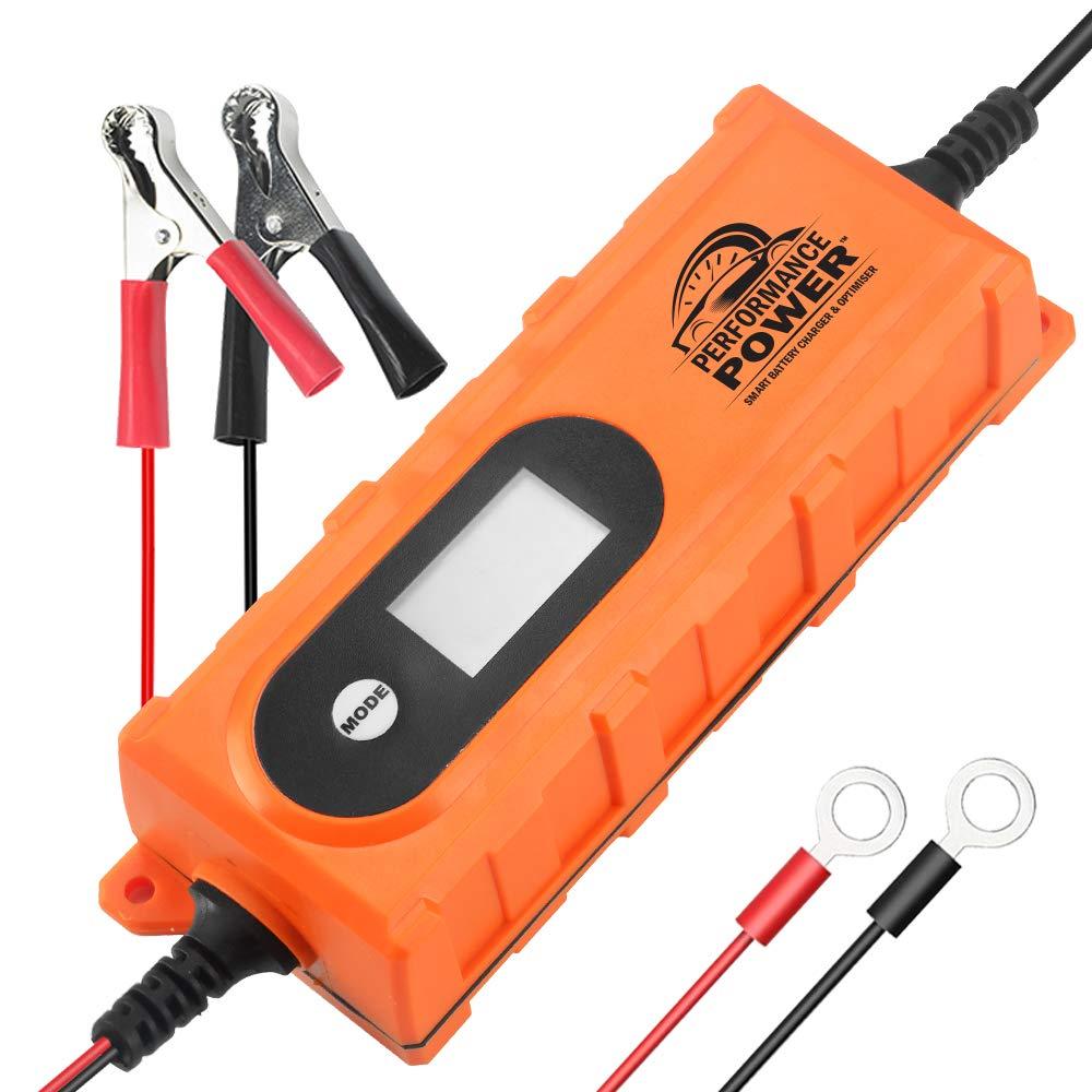 Performance Power UK - 0.8-3.8A Smart Battery Charger & Optimiser for 6V / 12V Lead Acid and Gel Batteries Vcan Trade Co Ltd