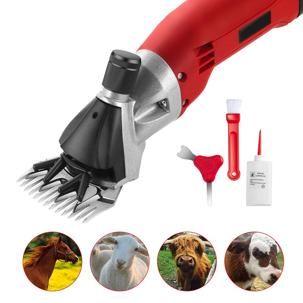 LYY Electric 6-speed Adjustable Professional Heavy Duty Shearing Clippers, Suitable For Goat, Sheep, Cattle And Other Livestock Pet Shaving, 220V 320-350W