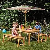 Kid's Acacia Wood 4-Piece Fun, Durable, Outdoor, Picnic Set
