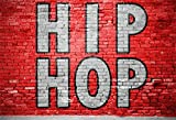 LFEEY 7x5ft Graffiti Hip Hop Backdrop Red Birck Wall Party Events Young People Night Club Parties Background Wallpaper Cloth Kids Grils Boys Adults Portrait Photography Studio Props