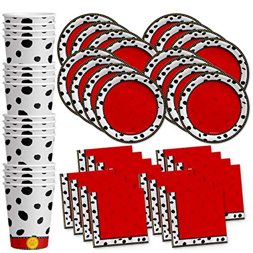 (Dalmatians Birthday Party Supplies Set Plates Napkins Cups Tableware Kit for 16 by Birthday)