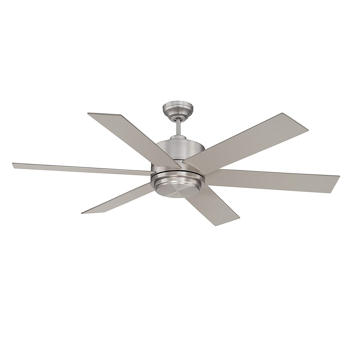 "Savoy House 60 820 6SV SN Velocity 60"" Ceiling Fan in Satin Nickel"