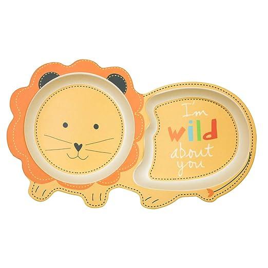 EULANT Platos Compartimento para Bebé, 2pcs Cuberteria Infantiles ...