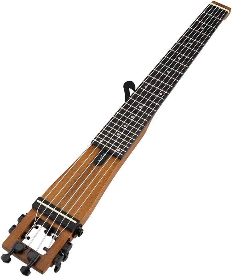 Anygig AGN escala completa Soild de 6 cuerdas Guitarra viajero mochilero: Amazon.es: Instrumentos musicales