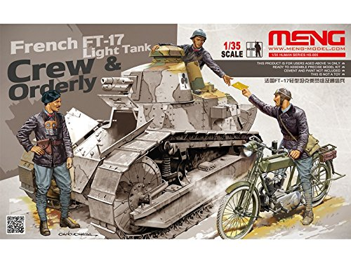 (Meng HS-005 1:35 Scale French FT-17 Light Tank Crew and Orderly Model )