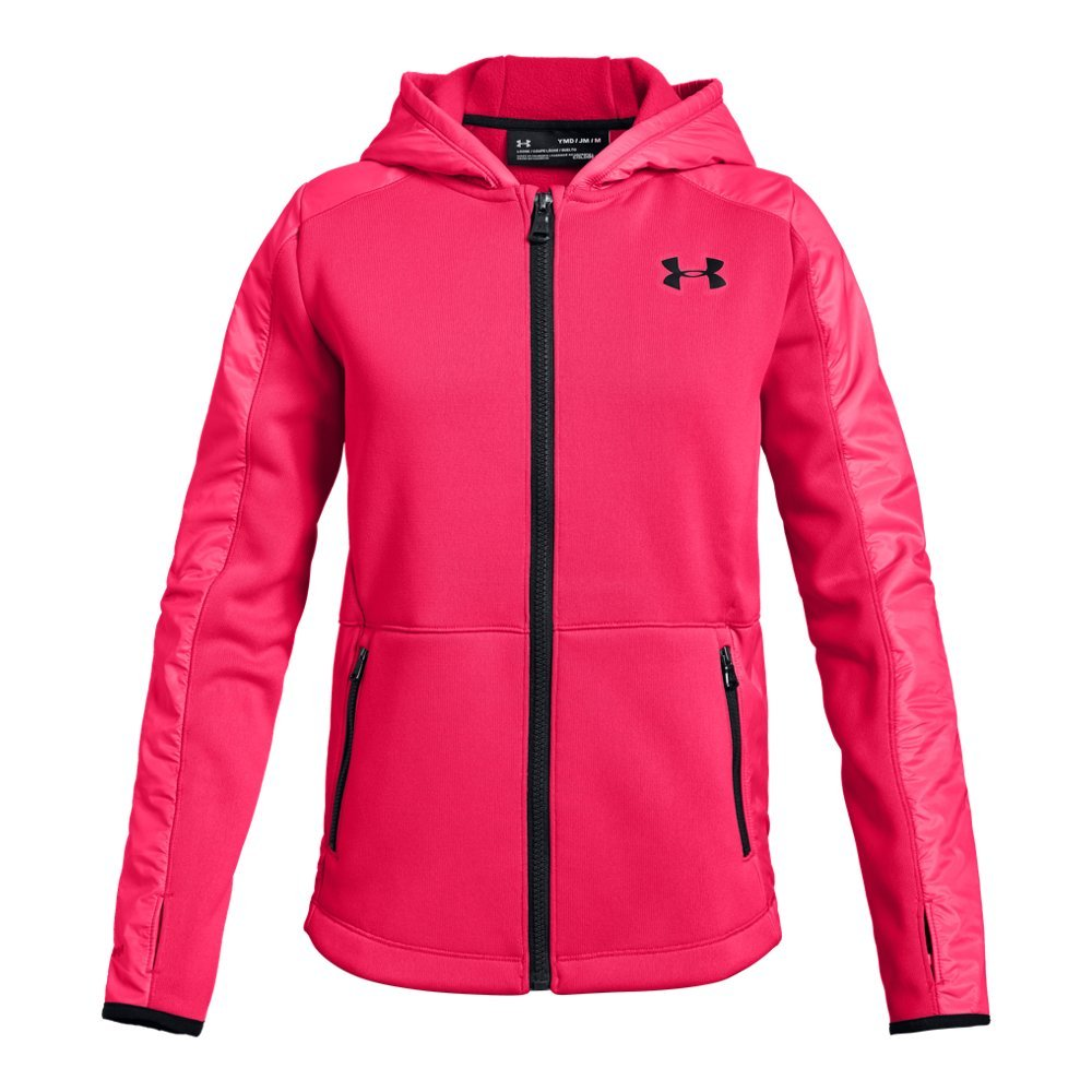 Under Armour Girls Swacket, Penta Pink (975)/Black, Youth Medium by Under Armour