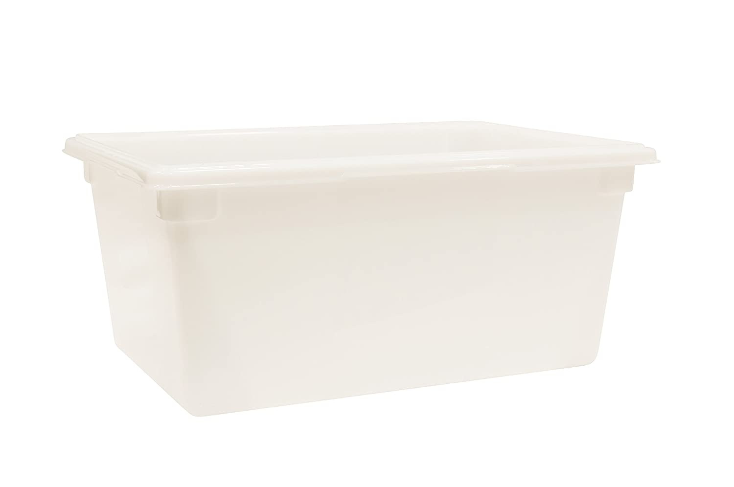 Rubbermaid Commercial Products Food Storage Box/Tote for Restaurant/Kitchen/Cafeteria, 16.5 Gallon, White (FG352800WHT)