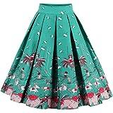 FeelinGirl 1950 Año Retro A-Línea Falda de Fiesta para Mujer