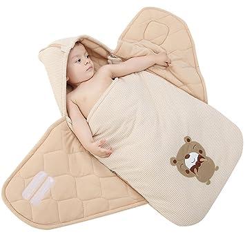 WYT Encapuchado Mantas de Bebé Saco de Dormir Mantas envolventes 1.5 Tog para bebés 0-10 Meses: Amazon.es: Ropa y accesorios