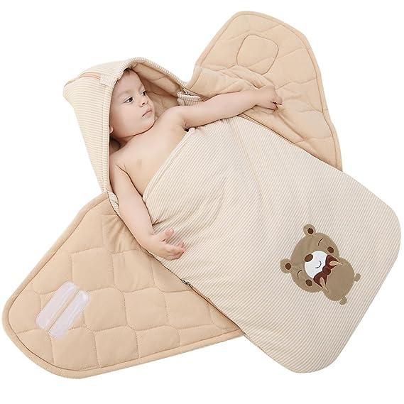 WYT Encapuchado Mantas de Bebé Saco de Dormir Mantas envolventes 3 Tog para bebés 3-15 Meses: Amazon.es: Ropa y accesorios