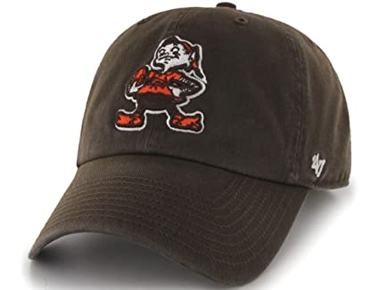 Image Unavailable. Image not available for. Color  Cleveland Browns 47  Brand NFL Throwback Clean Up Adjustable Hat 6ade7d42a