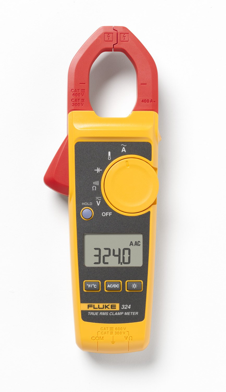 Amazon.com: Fluke 324 40/400A AC, 600V AC/DC True-RMS Clamp Meter with  Temperature, Capacitance Measurements: Industrial & Scientific