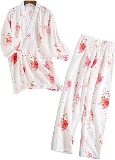 Traje de Pijamas de Traje de Pijamas Kimono de Estilo japonés ...