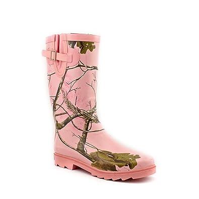Women's Ms. JoJo Rain Boots Realtree Max-1 Pink 9B