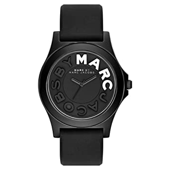 cbc4f0f33a6 Marc by Marc Jacobs MBM4025 Ladies Sloane Black Silicone Strap Watch   Amazon.co.uk  Watches