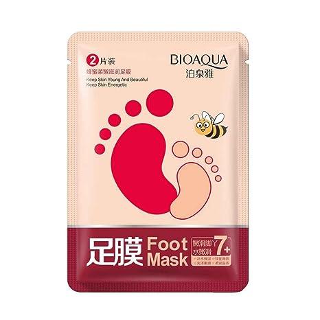 LUFA Una esencia del pie pies de la máscara planta de miel par Calcetines Exfoliantes para
