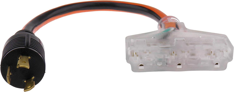 Amazon.com: MPI Tools Nema L5-30 - Cable de alimentación ...