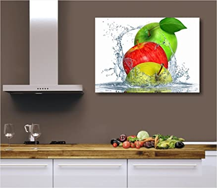 Apples fresh - 70x50 cm Quadro moderno per cucina moderna bar pub ...