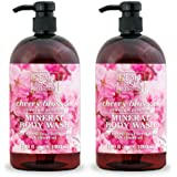 Dead Sea Collection Mineral Body Wash with Cherry Blossom Relaxing and Pampering 67.6 fl.oz Pack of 2