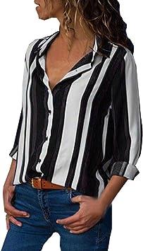 jaminy Cargar Mujer Camiseta Manga Larga Blusa túnica con ...