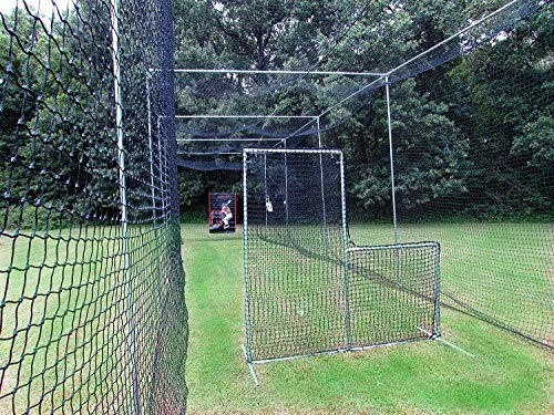 Jones Sports L-Screen 6' x 6' Residential Baseball Safety Frame & #42-60Ply Pitcher L -