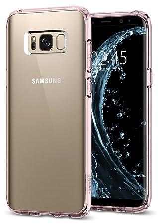 Spigen Funda Galaxy S8 Plus, Carcasa [Ultra Hybrid] Tecnología de cojín de Aire y protección híbrida de la Gota para Galaxy S8+ (2017) - Rosa Cristal