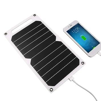 Dailyinshop 5V 5W Panel de Carga Solar portátil Cargador USB ...