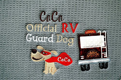 Custom Personalized Dog Feeding Mat, RV Dog Placemat, RV Dec