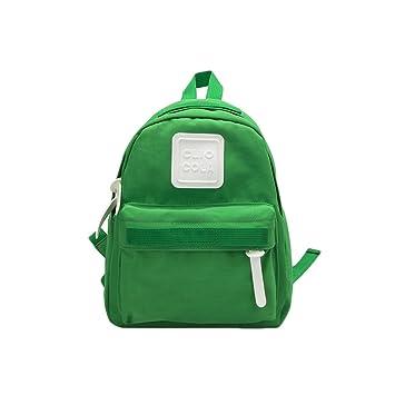 916fa5692e Flyingsky Kindergarten Backpack Solid Color Nylon Kids School Bag for  Toddler Boys Girls Mini Backpack (Green)  Amazon.co.uk  Luggage